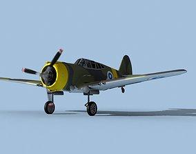 Curtiss H-75C Mohawk V26 Finland 3D