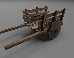 Medieval Wagon 3D asset low-poly