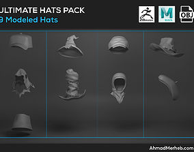 3D Ultimate Hats Pack Models