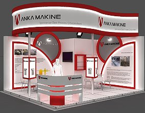 Exhibition Stand - ST0063 3D model