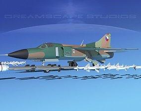 3D model Mig-23 Fighter Czechoslavakia