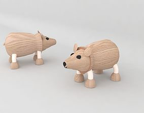 3D asset realtime my son toy wooden bear