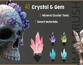 40 crystal and gem imm brush 3D asset