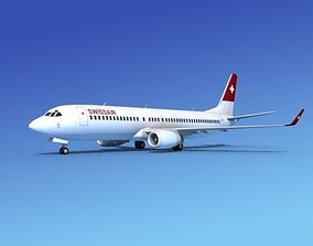 3D model Boeing 737-800 Swissair