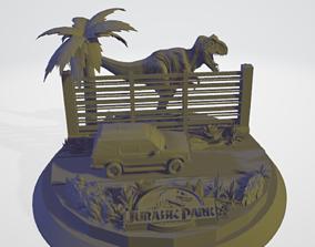 3D printable model Jurassic Park Statue