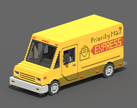3D model Voxel Mail Van