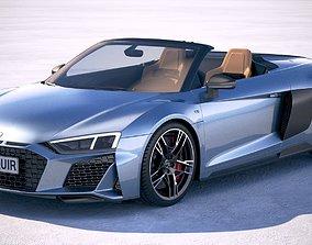 3D Audi R8 Spyder 2019