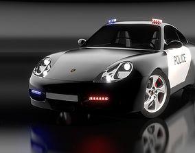 Porsche 911 Carrera S4 Police freesg 3D model realtime