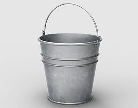 galvanized Bucket 3D model