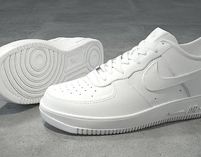 Nike Air Force 1 low white 3D asset