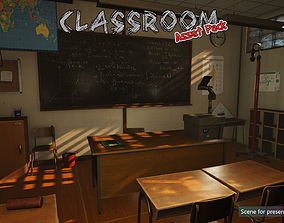 Low-Poly Classroom Pack 3D model