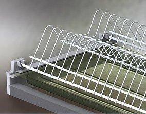 Plate draining racks 3D model