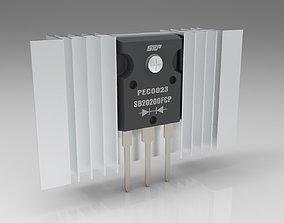 Transistor 3D asset