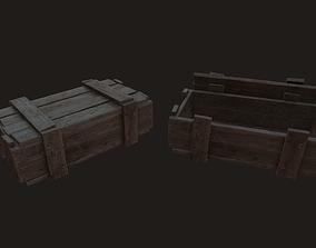 Military wooden box 3D asset