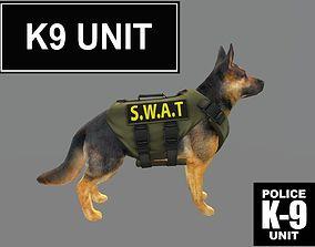 Dog k-9 Unit model swat 3D asset