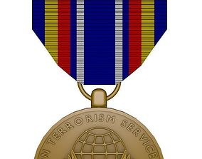 Global War on Terrorism Service Medal 3D model