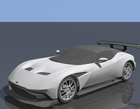 Aston Martin Vulcan 3D model rigged