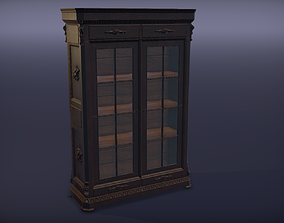 3D model Antique bookcase