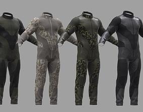 3D asset Military suit