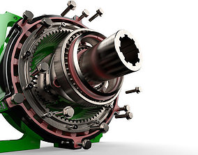 3D Planetary gearbox scifi gear