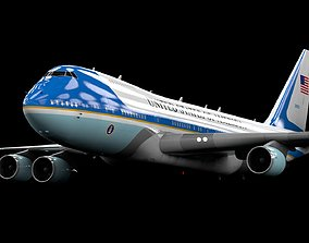 Boeing 747-400 Air Force One Model - C4d-Fbx-Maya-Obj
