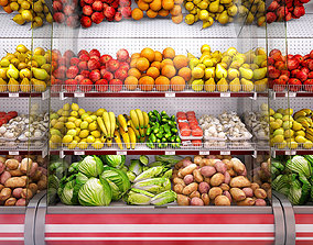 3D model Refrigerated showcase Fortune Vegetables