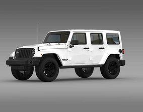 3D model Jeep Wrangler Unlimited Rubicon X 2014