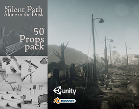 3D asset game-ready Silent Path - Alone in the Dusk