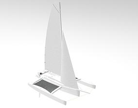 3D model Trimaran Sailing Boat