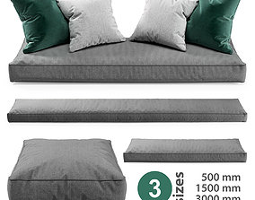 Seat Pillows Set 2 3D