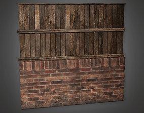 Outdoor Wall 20 - GFS - PBR Game Ready 3D asset