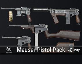 PBR Mauser Pistol Pack 3D model