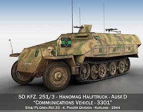 SDKFZ 251 Ausf D - Half-track - 3301 3D