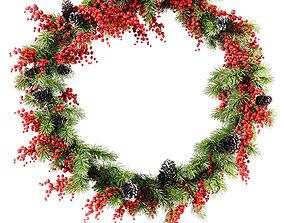 Christmas wreath v3 3D