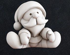 Santa Claus 3D printable model art claus