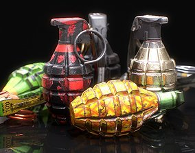 3D asset MK2 Grenade - Game ready - Low poly with 6 PBR 1