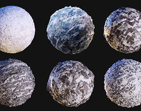 Snow Ice Seamless PBR Texture Pack 3D model