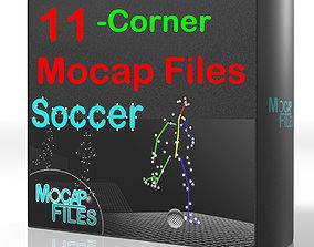 2-Soccer football motion capture animations - 3D model