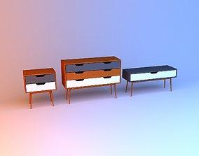 3D Scandinavian bedside table