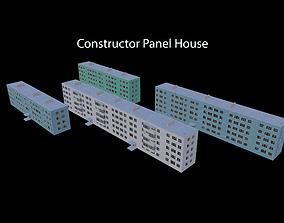 Constructor Panel House 3D asset