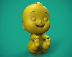 Happy Baby Cartoon 3D print model