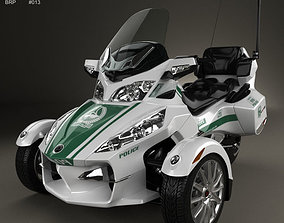 3D model BRP Can-Am Spyder Police Dubai 2014