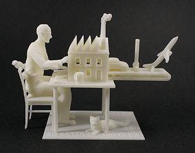 Third Industrial Revolution meme 3D print model