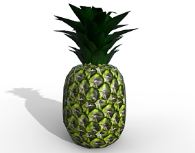 Pineapple 3D asset low-poly