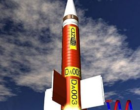 Dauphin Sounding Rocket 3D model