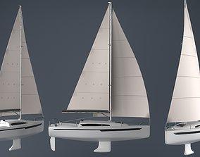 Sailing boat 3D asset realtime