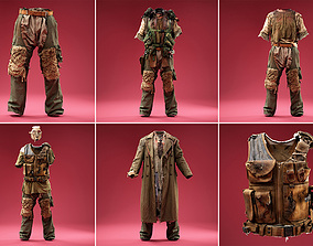 3D model 6 Horror Army Outfits