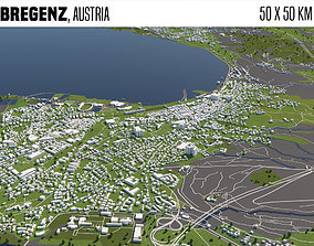 Bregenz Austria 50x50km 3D
