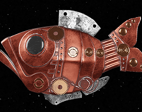 3D model PBR Steampunk fish
