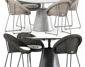Gigi II Armchair by Janus et cie and Rock Table 3D model